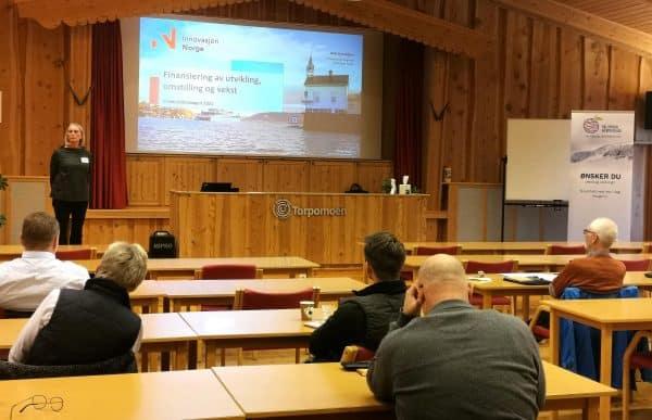 Innovasjon Norge holdt innlegg om deres virkemidler og støtteordninger