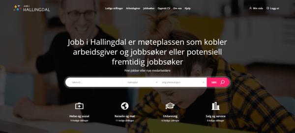 viser rekrutteringsportalen jobbihallingdal.no